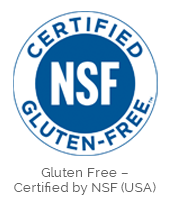 Gluten Free - Certified by NSF (USA)